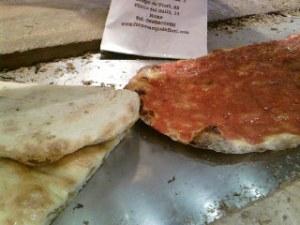 Pizza bianca e rossa